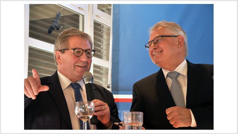 von links: Hans-Jörn Arp, Wilhelm Blöcker