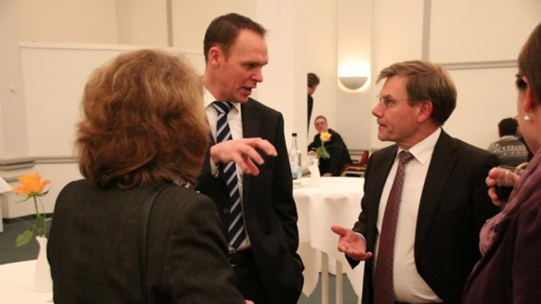Kronshagens Bürgermeister Kandidat Ingo Sander und Johann Wadephul